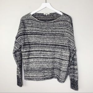 MADEWELL BLACK AND WHITE LONG SLEEVE SWEATER